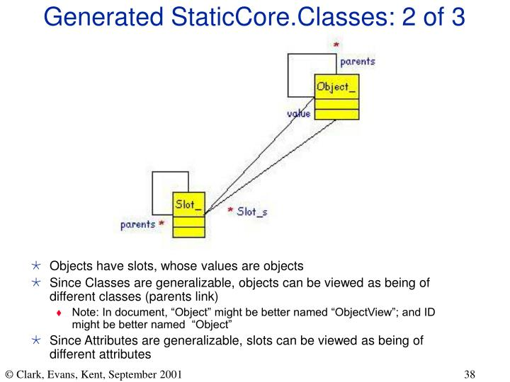 Generated StaticCore.Classes: 2 of 3