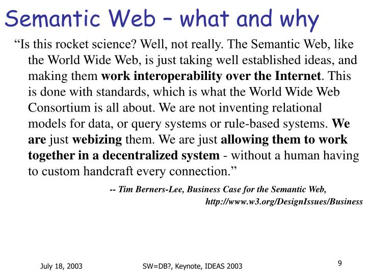Semantic Web – what and why