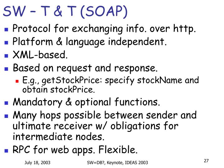 SW – T & T (SOAP)