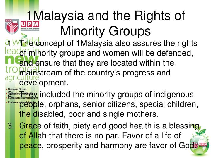 1Malaysia and the Rights of Minority Groups