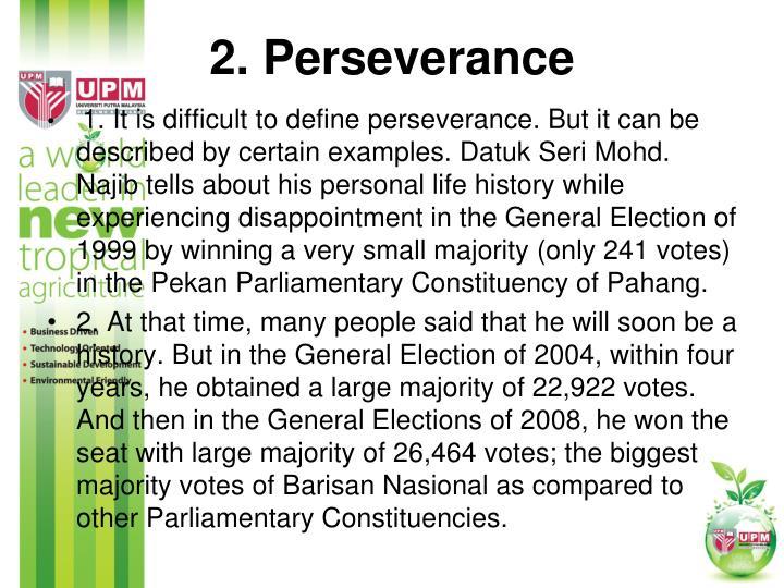 2. Perseverance