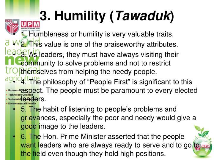 3. Humility (