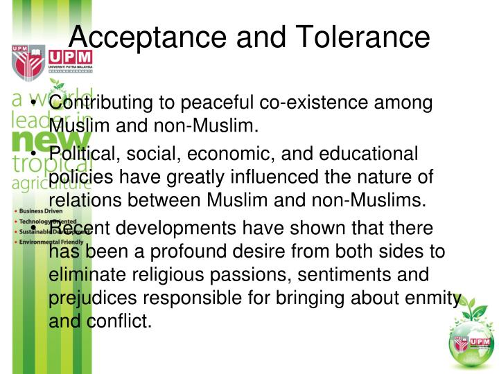 Acceptance and Tolerance
