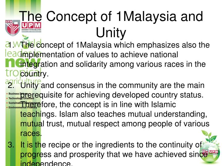 The Concept of 1Malaysia and Unity