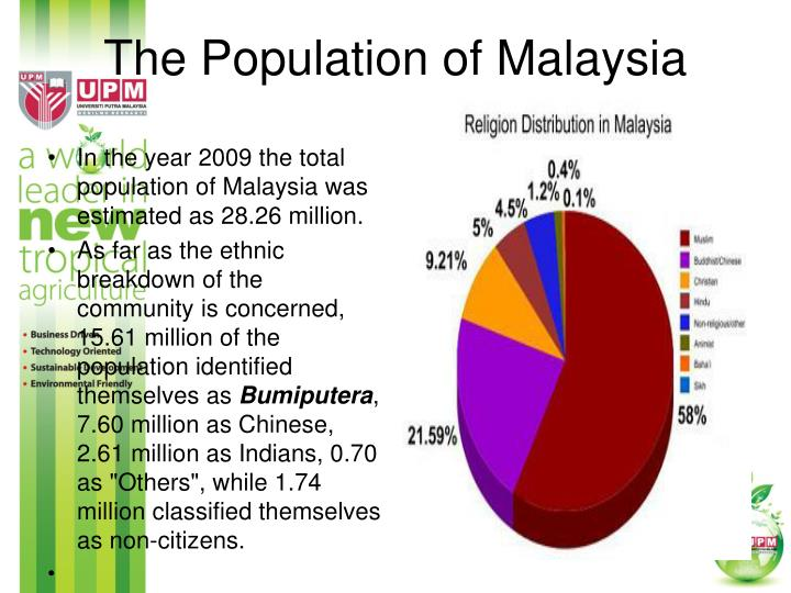 The Population of Malaysia