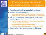 environnement de travail coop ratif distance adaptatif