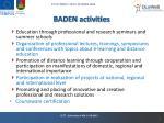 baden activities