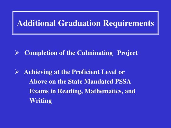 Additional Graduation Requirements