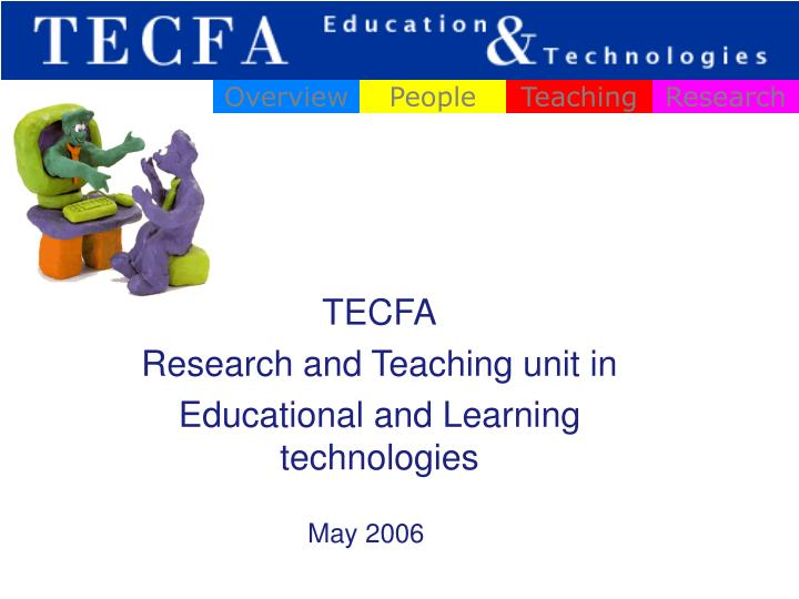 tecfa research and teaching unit in educational and learning technologies n.