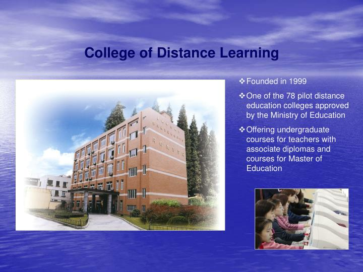 College of Distance Learning