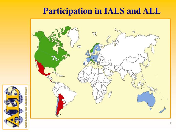 Participation in IALS and ALL