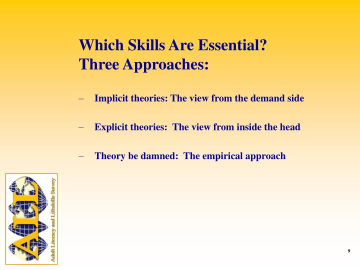 Which Skills Are Essential?
