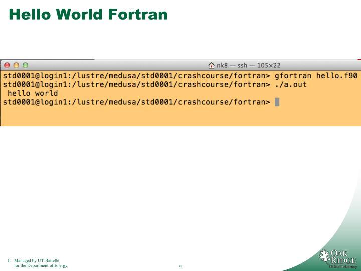 Hello World Fortran