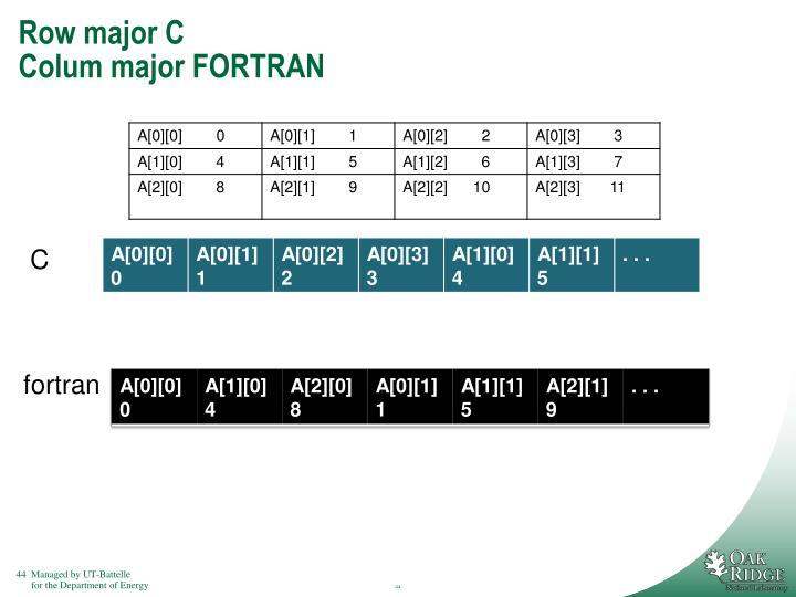 Row major C