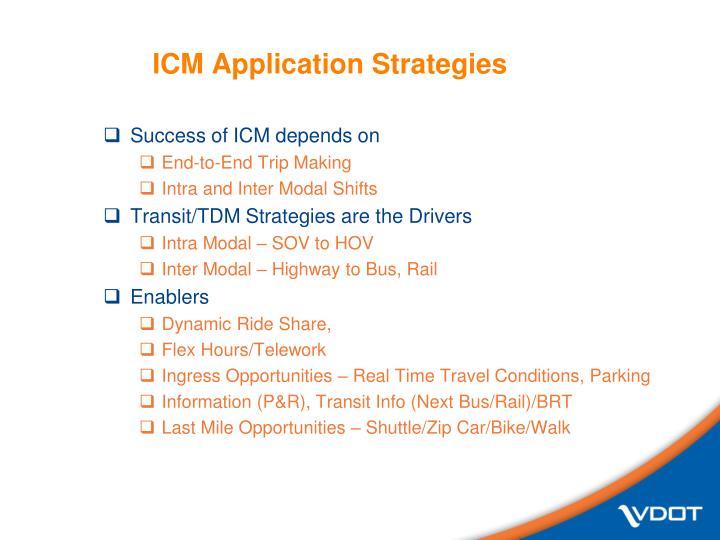 ICM Application Strategies