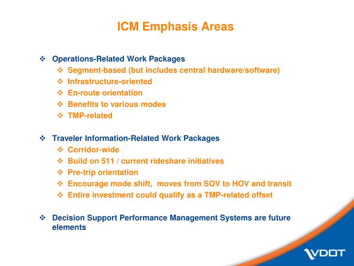 ICM Emphasis Areas