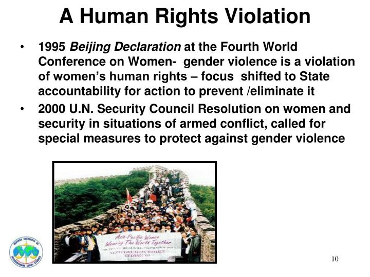 A Human Rights Violation