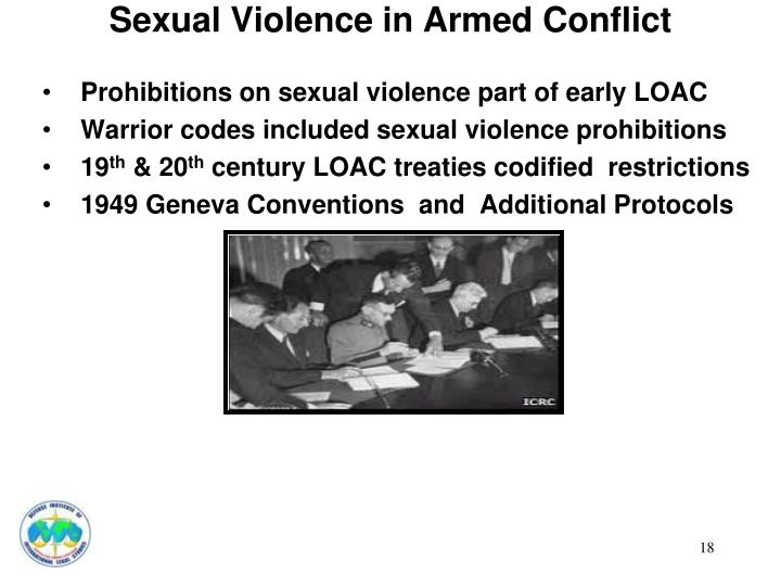 Sexual Violence in Armed Conflict