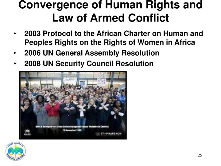 Convergence of Human Rights and