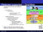 features supported grid web