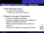 message compression algorithm