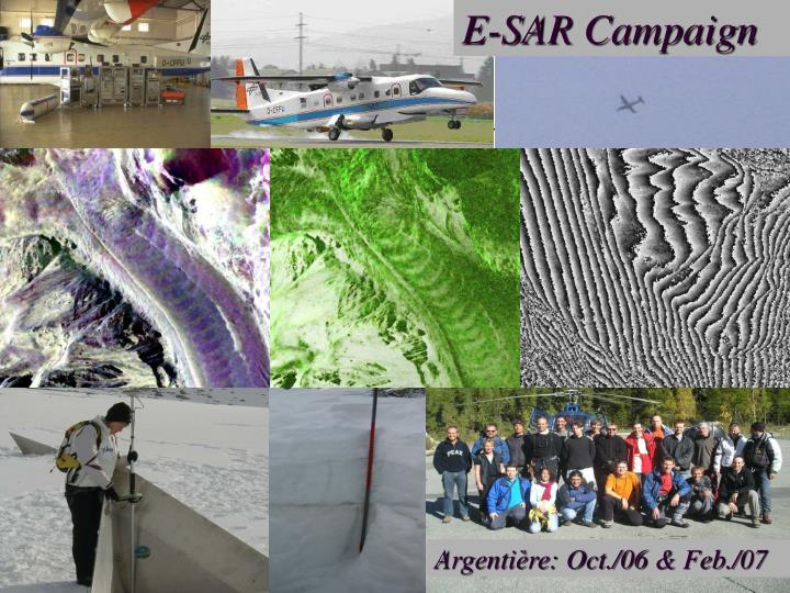 E-SAR Campaign