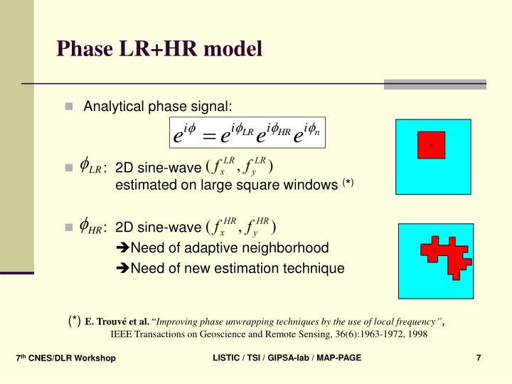 Phase LR+HR model