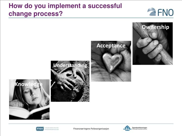 How do you implement a successful change process?