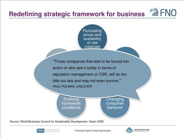 Redefining strategic framework for business