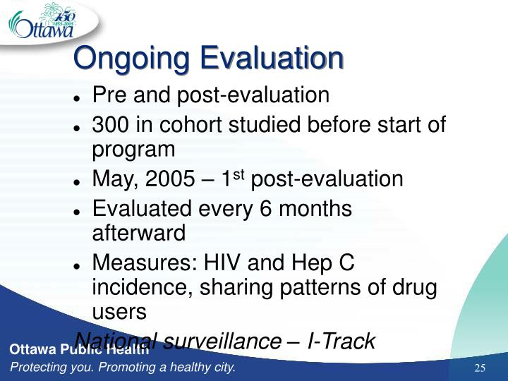 Ongoing Evaluation