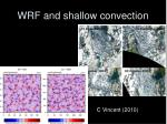 wrf and shallow convection