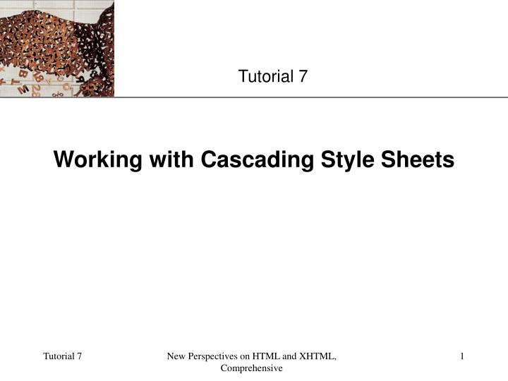 working with cascading style sheets n.