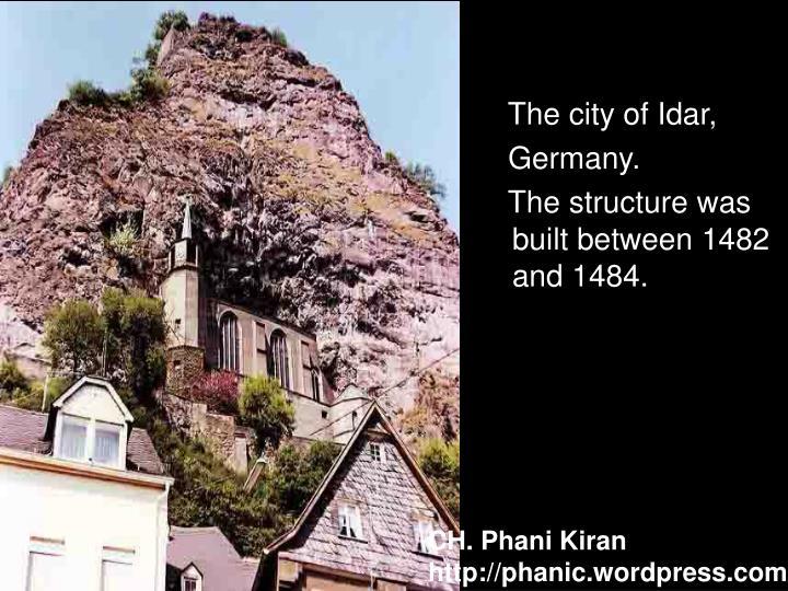 The city of Idar,