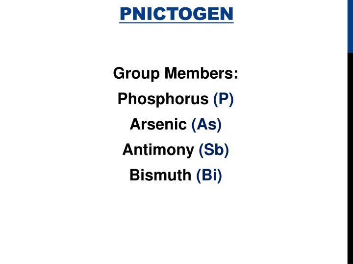 Pnictogen