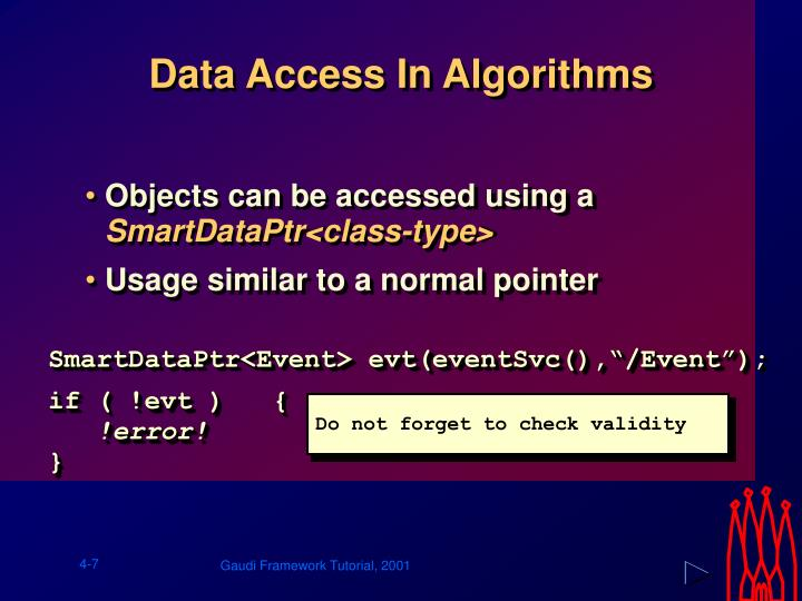 Data Access In Algorithms