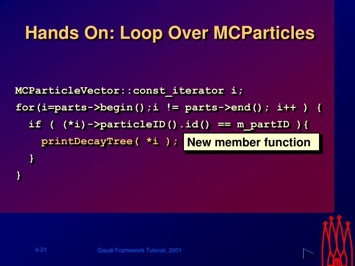 Hands On: Loop Over MCParticles