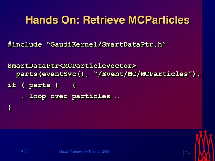 Hands On: Retrieve MCParticles