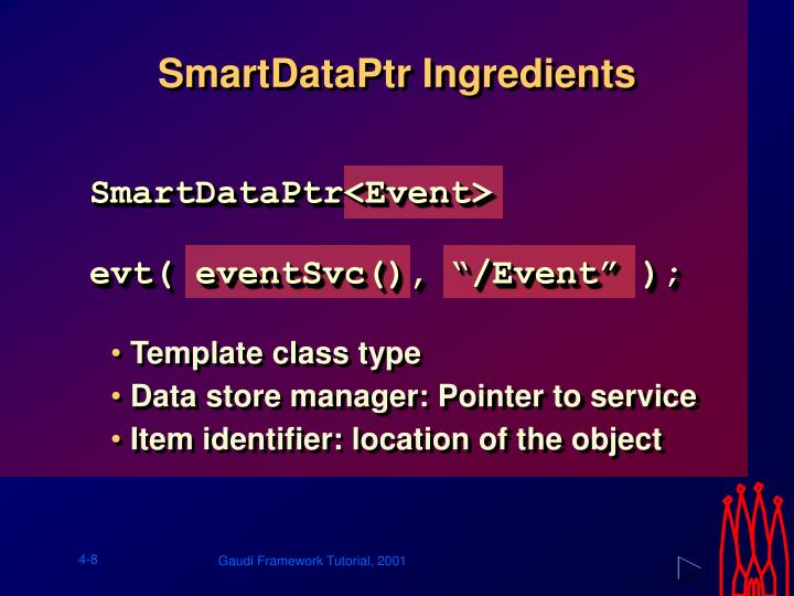 SmartDataPtr Ingredients