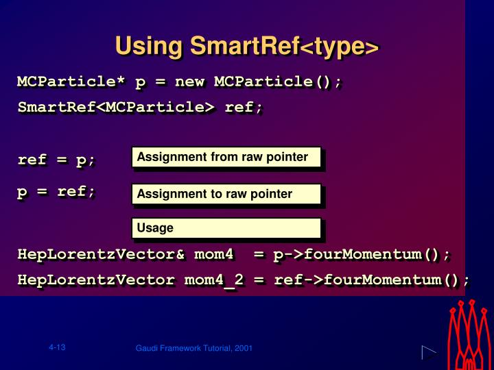 Using SmartRef<type>