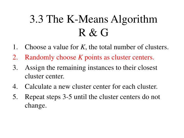 3.3 The K-Means Algorithm
