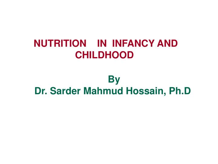 nutrition and infancy Parenteral nutrition can help save the lives of underweight or sick infants who are unable to process food by mouth read about the process and the risks.