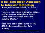 a building block approach to intrusion detection1