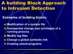 a building block approach to intrusion detection2