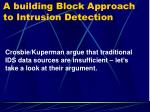 a building block approach to intrusion detection4