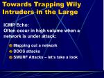 towards trapping wily intruders in the large2