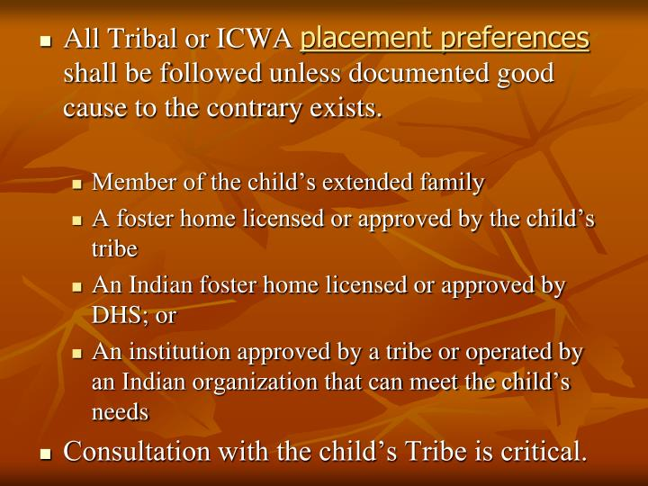 All Tribal or ICWA