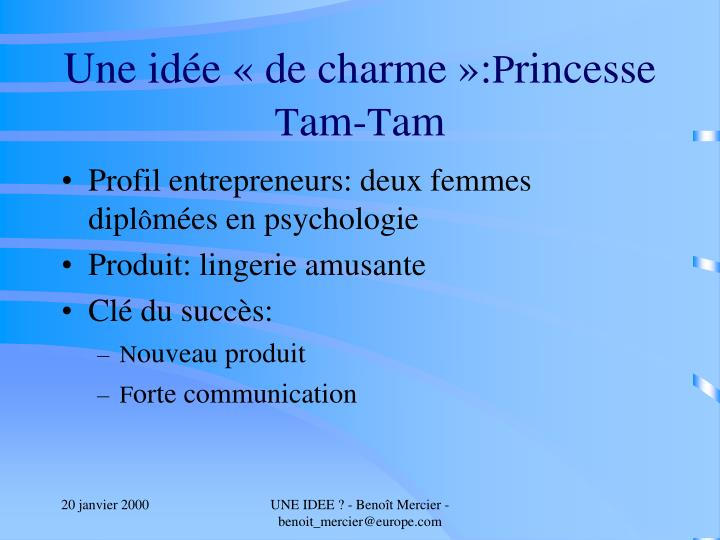 Ppt une id e powerpoint presentation id 4161174 for Idee innovation produit