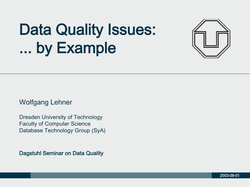 Data quality; data standards & information context – nick armitage.