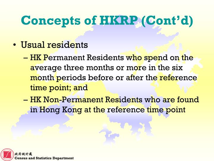 Concepts of HKRP (Cont'd)