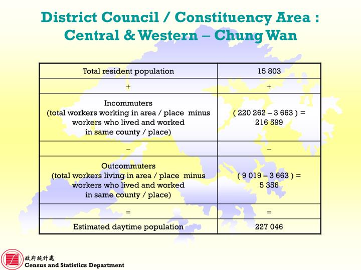 District Council / Constituency Area :